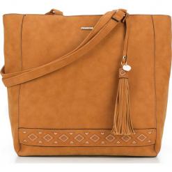 Torebka damska 87-4Y-700-5. Czarne torebki shopper damskie Wittchen, z aplikacjami. Za 129.00 zł.