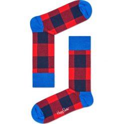 Happy Socks - Skarpety Lumberjack. Czerwone skarpety męskie Happy Socks, z bawełny. Za 39.90 zł.