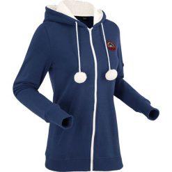 Bluza rozpinana z kapturem na podszewce z miękkiego polaru, długi rękaw bonprix kobaltowy. Bluzy damskie marki KALENJI. Za 99.99 zł.