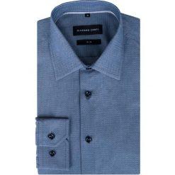 Koszula SIMONE Slim KDWS000307. Szare koszule męskie Giacomo Conti, jodełka, z bawełny, z klasycznym kołnierzykiem. Za 199.00 zł.