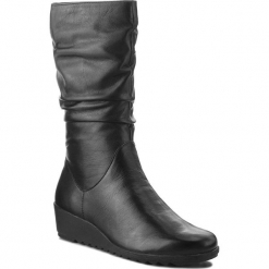 Kozaki CAPRICE - 9-25407-21 Black Nappa 022. Czarne kozaki damskie Caprice, ze skóry ekologicznej. Za 369.90 zł.