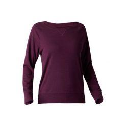 Koszulka Gym 500. Fioletowe koszulki sportowe damskie DOMYOS, z bawełny, z długim rękawem. Za 39.99 zł.