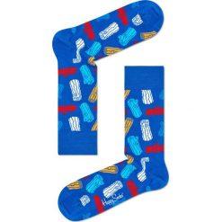 Happy Socks - Skarpety Logs. Niebieskie skarpety męskie Happy Socks, z bawełny. W wyprzedaży za 29.90 zł.