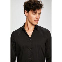 Trussardi Jeans - Koszula Colla. Czarne koszule męskie TRUSSARDI JEANS, z bawełny, z klasycznym kołnierzykiem, z długim rękawem. Za 319.90 zł.
