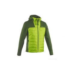 Sweter turystyczny NH500 Hybrid męski. Zielone swetry przez głowę męskie QUECHUA. W wyprzedaży za 59.99 zł.