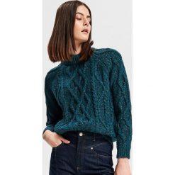 Sweter z domieszką wełny i alpaki - Niebieski. Swetry damskie marki KALENJI. W wyprzedaży za 99.99 zł.