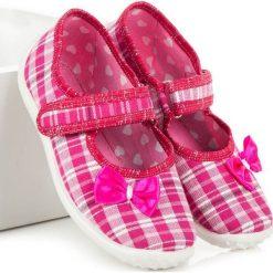 Balerinki dziewczęce domowe ROSALIE różowo-białe r. 30. Baleriny dziewczęce marki bonprix. Za 48.19 zł.