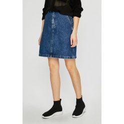 Tommy Jeans - Spódnica. Szare spódnice damskie Tommy Jeans, z bawełny. Za 399.90 zł.