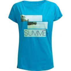 T-shirt damski TSD627 - turkus - Outhorn. Brązowe t-shirty damskie Outhorn, z nadrukiem, z bawełny. W wyprzedaży za 24.99 zł.
