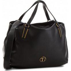 Torebka TRUSSARDI JEANS - Rabarbaro 75B00551 K299. Czarne torby na ramię damskie TRUSSARDI JEANS, z jeansu. Za 669.00 zł.