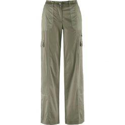 """Spodnie """"papertouch"""", szerokie nogawki bonprix oliwkowy. Spodnie materiałowe damskie marki DOMYOS. Za 109.99 zł."""
