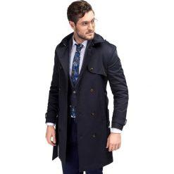 Płaszcz ALVARO PSGS000057. Niebieskie płaszcze męskie Giacomo Conti, z bawełny, klasyczne. Za 899.00 zł.