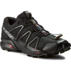 Buty SALOMON - Speedcross 4 383130 26 V0 Black/Black/Black Metallic. Czarne buty sportowe męskie Salomon, z materiału. W wyprzedaży za 389.00 zł.