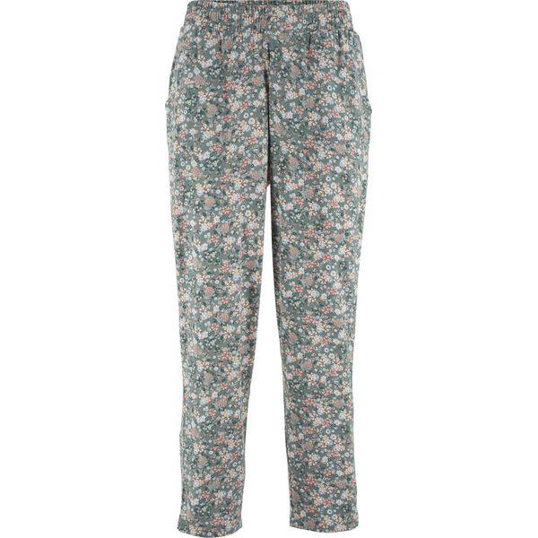f4b2b0284773c9 Spodnie z dżerseju 7/8 bonprix zielony eukaliptusowy w kwiaty - Spodnie  materiałowe damskie marki bonprix. Za 74.99 zł. - Spodnie materiałowe  damskie ...