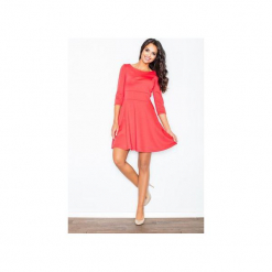 Sukienka M081 Koral. Czerwone sukienki damskie Figl. Za 109.00 zł.
