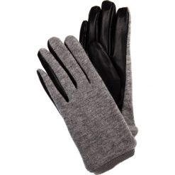 Szare rękawiczki ze skórzanym wnętrzem QUIOSQUE. Szare rękawiczki damskie QUIOSQUE, z materiału. Za 59.99 zł.