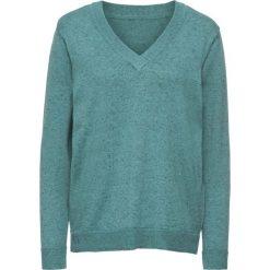 Sweter bonprix zielony melanż. Swetry damskie marki bonprix. Za 49.99 zł.