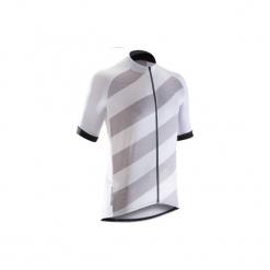 Koszulka krótki rękaw na rower ROADC 500 męska. Białe koszulki sportowe męskie B'TWIN, z elastanu, z krótkim rękawem. W wyprzedaży za 49.99 zł.