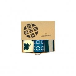 Box dla Szczęściarza - Skarpetki. Brązowe skarpety męskie Sox in the box, w kolorowe wzory, z bawełny. Za 80.00 zł.