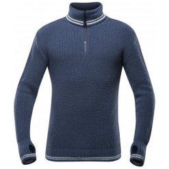 Devold Sweter Randers Zip Neck Night/Offwhite Xl. Brązowe swetry przez głowę męskie Devold, z dzianiny, z klasycznym kołnierzykiem. Za 495.00 zł.