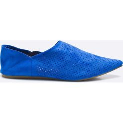 Answear - Baleriny Chc-Shoes. Niebieskie baleriny damskie ANSWEAR, z materiału. W wyprzedaży za 59.90 zł.