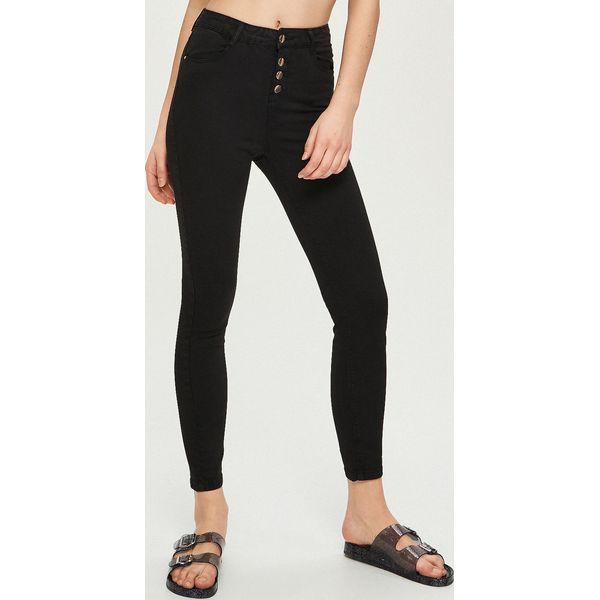 e7658f08 Spodnie z wysokim stanem - Czarny
