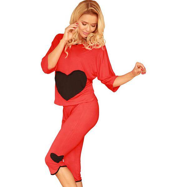 48a560e408d4e8 Piżama w kolorze czerwonym - Czerwone piżamy damskie marki Kalimo, z ...