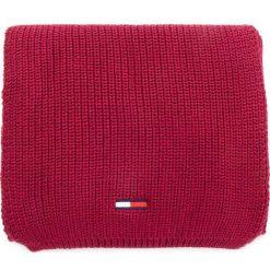 Szal TOMMY JEANS - Tju Basic Rib Scarf AU0AU00288  652. Czerwone szaliki i chusty damskie Tommy Jeans, z bawełny. Za 229.00 zł.