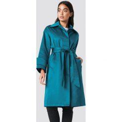 NA-KD Błyszczący płaszcz - Green,Blue. Niebieskie płaszcze damskie NA-KD, w paski. Za 283.95 zł.