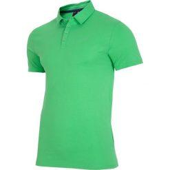 Koszulka polo męska TSM015 - zielony. Zielone koszulki polo męskie 4f, na lato, z bawełny. W wyprzedaży za 49.99 zł.