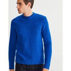 Sweter - Niebieski. Niebieskie swetry przez głowę męskie Reserved. Za 119.99 zł.