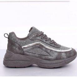 Szare obuwie sportowe damskie ButyModne, adidas stan smith