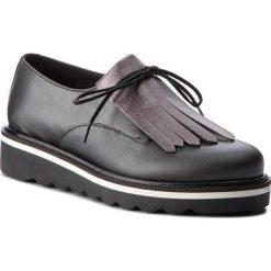Oxfordy TOMMY HILFIGER - Pearlized Leather Lace Up Shoe FW0FW02937 Black 990. Czarne półbuty damskie Tommy Hilfiger, ze skóry ekologicznej. W wyprzedaży za 479.00 zł.