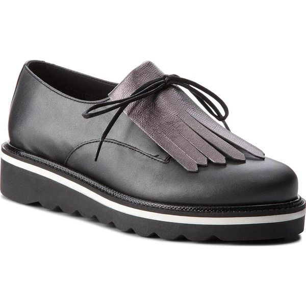 56cf511f7047d Oxfordy TOMMY HILFIGER - Pearlized Leather Lace Up Shoe FW0FW02937 ...