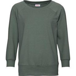 Bluza oversize, rękawy 3/4 bonprix szaro-zielony. Bluzy damskie marki KALENJI. Za 54.99 zł.
