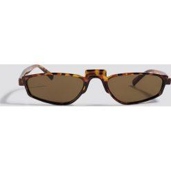 NA-KD Accessories Okulary przeciwsłoneczne retro - Brown. Brązowe okulary przeciwsłoneczne damskie NA-KD Accessories. Za 52.95 zł.
