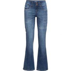 Dżinsy ze stretchem BOOTCUT bonprix niebieski. Niebieskie jeansy damskie bonprix. Za 79.99 zł.