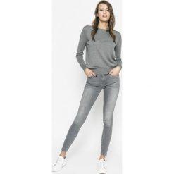 Vero Moda - Sweter. Szare swetry damskie Vero Moda, z bawełny, z okrągłym kołnierzem. Za 119.90 zł.
