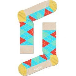 Happy Socks - Skarpetki Argyle. Szare skarpety damskie Happy Socks, z bawełny. W wyprzedaży za 29.90 zł.