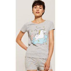 Dwuczęściowa piżama z jednorożcem - Szary. Szare piżamy damskie House. Za 49.99 zł.