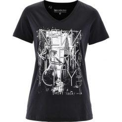 T-shirt bonprix czarno-biały. T-shirty damskie marki DOMYOS. Za 34.99 zł.
