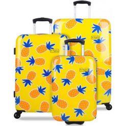 Reabags Zestaw Walizek Podróżnych  B.Hppy Home Sweet Pineapple. Walizki męskie Reabags, w kolorowe wzory. W wyprzedaży za 1,099.00 zł.