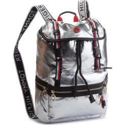 Plecak TOMMY HILFIGER - Th Explorer Backpack AW0AW05849  907. Szare plecaki damskie Tommy Hilfiger, ze skóry ekologicznej. Za 599.00 zł.
