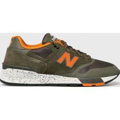 New Balance - Buty ML597SKJ. Brązowe buty sportowe męskie New Balance, z materiału. Za 399.90 zł.