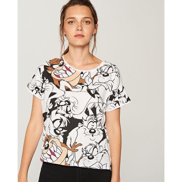 e924802e5 Koszulka looney tunes - Biały - T-shirty damskie marki Reserved. W ...
