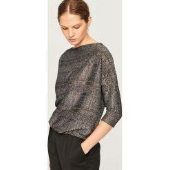 Sweter z błyszczącą nitką - Czarny. Czarne swetry damskie Reserved. Za 99.99 zł.