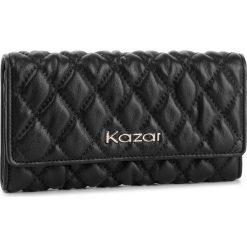 Duży Portfel Damski KAZAR - 34485-01-00  Black. Czarne portfele damskie Kazar, ze skóry. Za 399.00 zł.