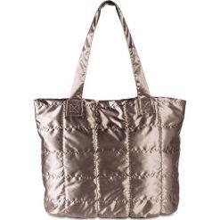 Torba shopper metallic bonprix brązowo-złoty. Brązowe torebki shopper damskie bonprix. Za 109.99 zł.