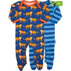 Śpioszki (2 pary) w kolorze granatowo-niebieskim. Śpioszki niemowlęce marki Toby Tiger. W wyprzedaży za 129.95 zł.