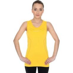 Brubeck Koszulka damska Athletic żółta r. S (TA10200). Bluzki damskie Brubeck. Za 114.91 zł.